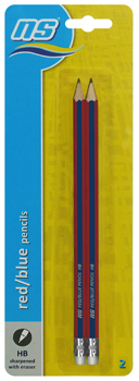 NS RED BLUE PENCILS 2's