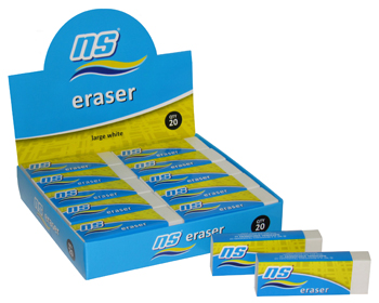 NS WHITE ERASER