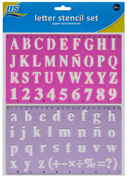 NS LETTER STENCIL SET 20mm