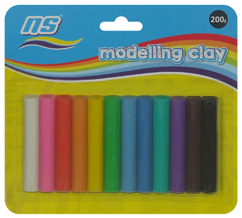 NS MODELLING CLAY 200g 12's