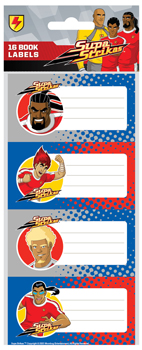 SUPA STRIKAS BOOK LABELS